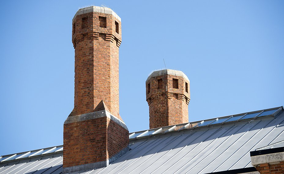 Chimneys and roof detail