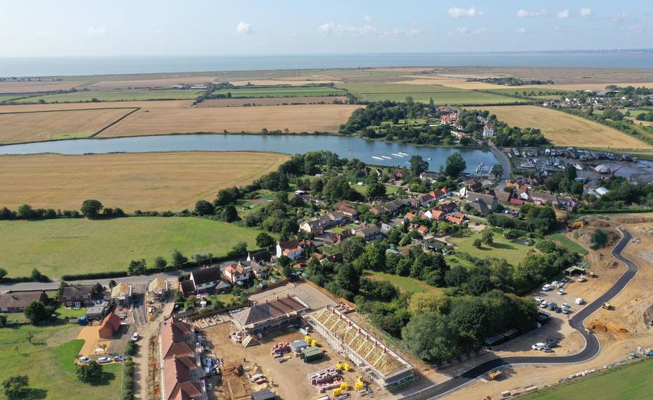 Drone shot of St. Osyth Priory