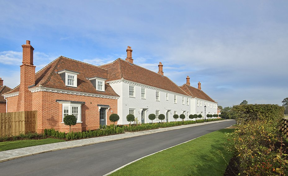 New build houses at St Osyth Priory