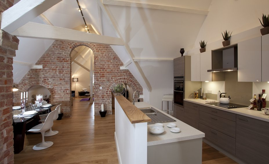 Unique loft apartment with exposed brick work