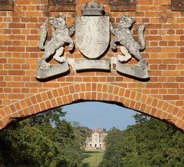 The coat of arms on the Gate Lodge -City & Country